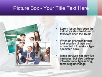 Business people at the office PowerPoint Template - Slide 20