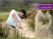Golfer hitting PowerPoint Templates
