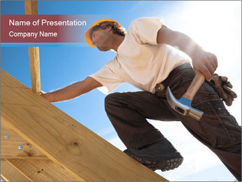 Roofer PowerPoint Template - Slide 1