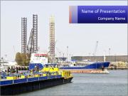 Oil and gas tanker PowerPoint Templates