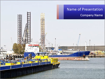 Oil and gas tanker PowerPoint Template - Slide 1