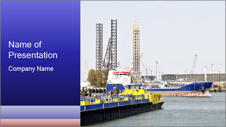 Oil and gas tanker PowerPoint Template