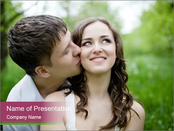Young couple in love PowerPoint Template - Slide 1