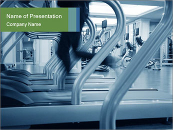 Running on treadmill PowerPoint Template