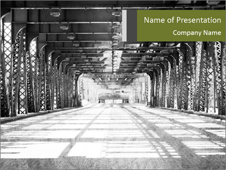 Old Chicago Bridge PowerPoint Template