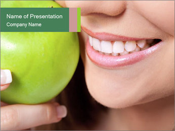 Healthy teeth PowerPoint Template