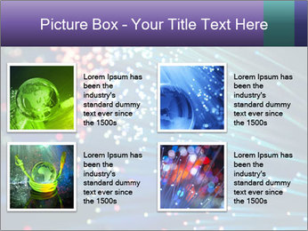 Bunch of optical fibres PowerPoint Template - Slide 14