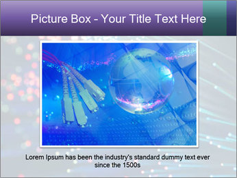 Bunch of optical fibres PowerPoint Template - Slide 15