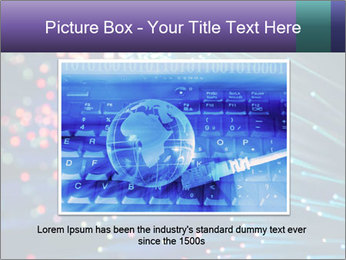 Bunch of optical fibres PowerPoint Template - Slide 16