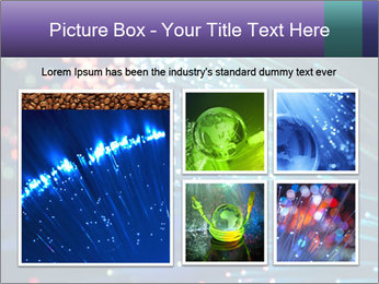 Bunch of optical fibres PowerPoint Template - Slide 19