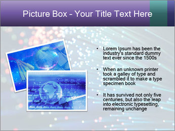 Bunch of optical fibres PowerPoint Template - Slide 20