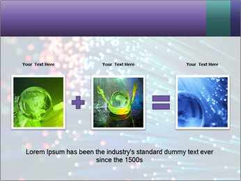 Bunch of optical fibres PowerPoint Template - Slide 22