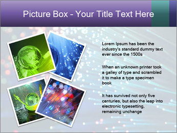 Bunch of optical fibres PowerPoint Template - Slide 23