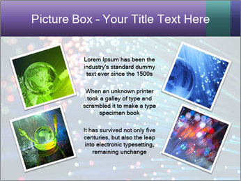 Bunch of optical fibres PowerPoint Template - Slide 24