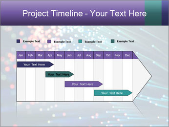 Bunch of optical fibres PowerPoint Template - Slide 25