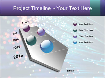Bunch of optical fibres PowerPoint Template - Slide 26