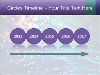 Bunch of optical fibres PowerPoint Template - Slide 29