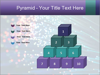 Bunch of optical fibres PowerPoint Template - Slide 31