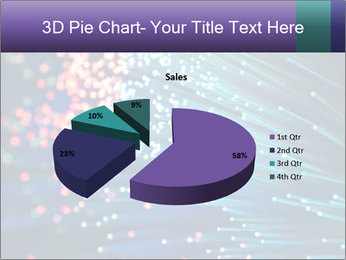 Bunch of optical fibres PowerPoint Template - Slide 35