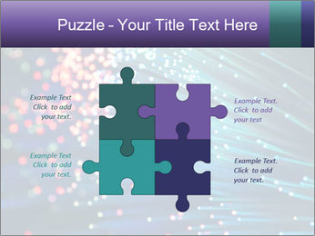 Bunch of optical fibres PowerPoint Template - Slide 43