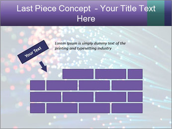 Bunch of optical fibres PowerPoint Template - Slide 46