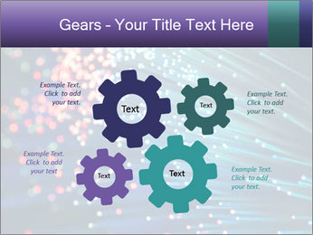 Bunch of optical fibres PowerPoint Template - Slide 47