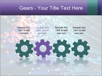 Bunch of optical fibres PowerPoint Template - Slide 48