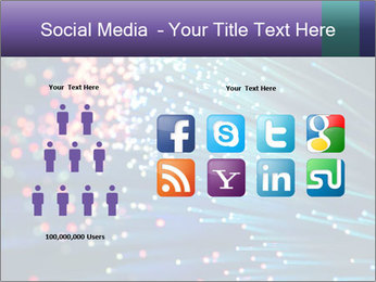Bunch of optical fibres PowerPoint Template - Slide 5