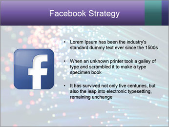 Bunch of optical fibres PowerPoint Template - Slide 6