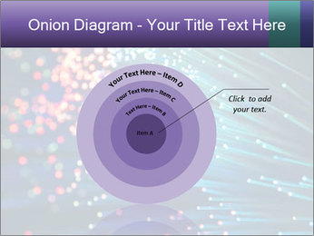 Bunch of optical fibres PowerPoint Template - Slide 61