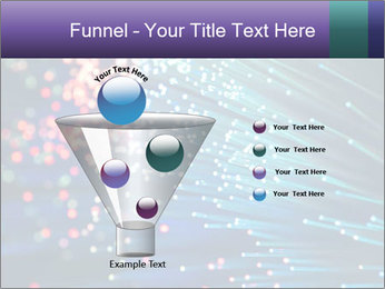 Bunch of optical fibres PowerPoint Template - Slide 63