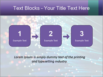 Bunch of optical fibres PowerPoint Template - Slide 71