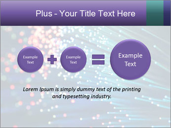 Bunch of optical fibres PowerPoint Template - Slide 75