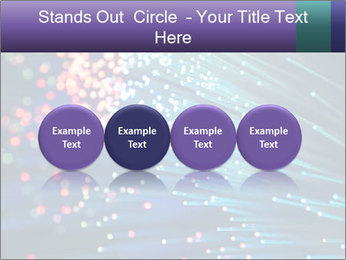 Bunch of optical fibres PowerPoint Template - Slide 76