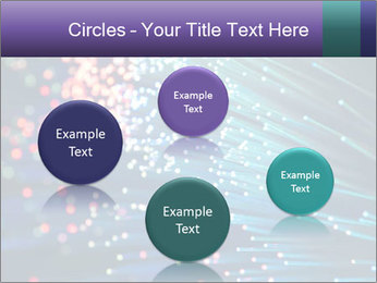 Bunch of optical fibres PowerPoint Template - Slide 77