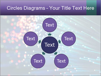 Bunch of optical fibres PowerPoint Template - Slide 78