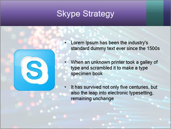 Bunch of optical fibres PowerPoint Template - Slide 8