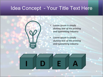Bunch of optical fibres PowerPoint Template - Slide 80