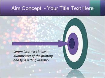Bunch of optical fibres PowerPoint Template - Slide 83