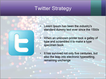 Bunch of optical fibres PowerPoint Template - Slide 9