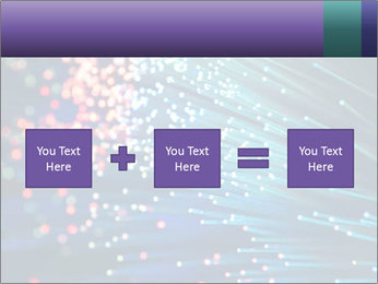 Bunch of optical fibres PowerPoint Template - Slide 95