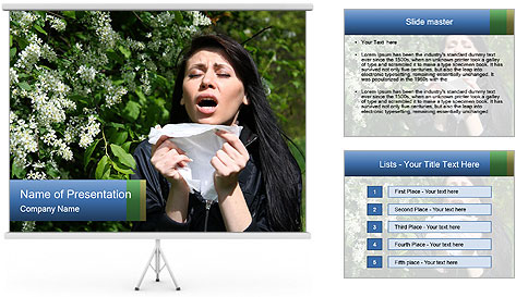 Allergy to pollen PowerPoint Template