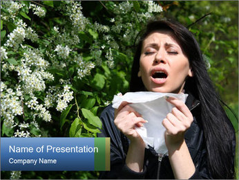 Allergy to pollen PowerPoint Template - Slide 1