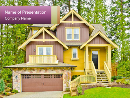 Luxury house PowerPoint Templates