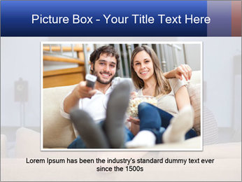 Young couple waching tv PowerPoint Template - Slide 15