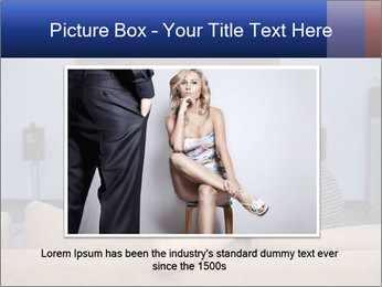 Young couple waching tv PowerPoint Template - Slide 16