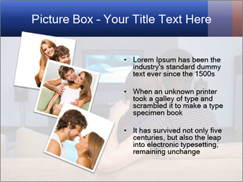 Young couple waching tv PowerPoint Template - Slide 17