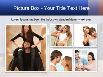 Young couple waching tv PowerPoint Template - Slide 19