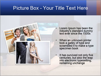 Young couple waching tv PowerPoint Template - Slide 20