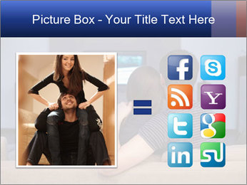 Young couple waching tv PowerPoint Template - Slide 21
